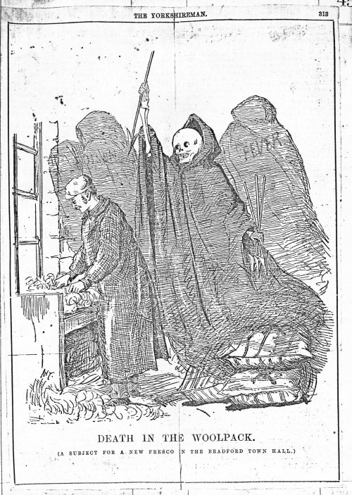 Death in the Woolpack, 1880s cartoon