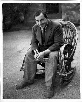 J.B. Priestley in a rocking chair, Wickenburg, Arizona, about 1936.  Photographer unknown.  Archive ref: PRI 21/5/7.